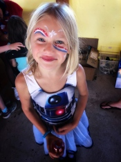 Face Paint at the July 4th Party!
