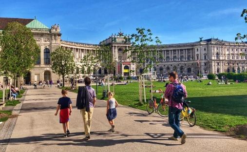 The impressive Hofburg Imperial Palace!