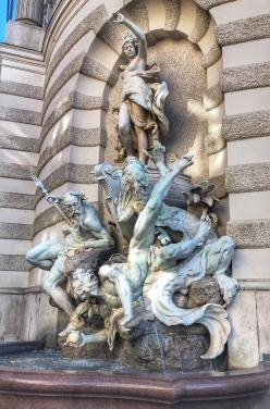Power at Sea fountain, Hofburg, Vienna