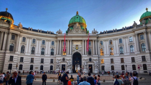 Hofburg Imperial Palace by day...