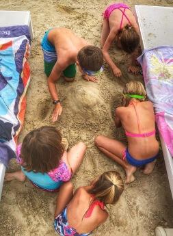 Making sand ... piles?