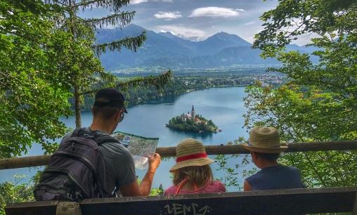 Lake Bled from Mala Osojnica hike.