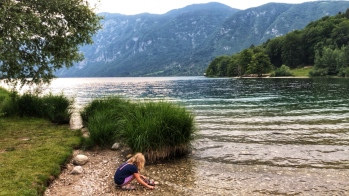 The shores of Lake Bohinj