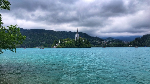Lake Bled on a haunting day...