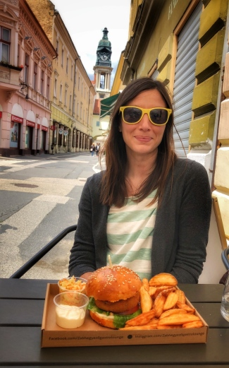 Veggie burgers on the walking street!