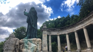 St Gerhard Statue at Gellért Hill overlooking the Danube