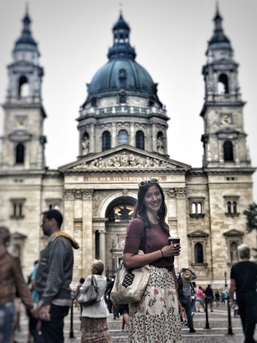 Jessie in front of St. Stephen's Basilica