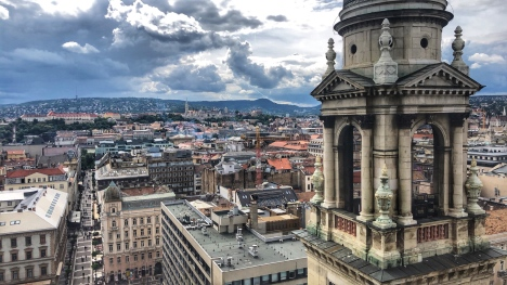 View from the top of St. Stephen's Basilica Dome