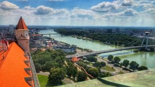 Danube from Bratislava Castle