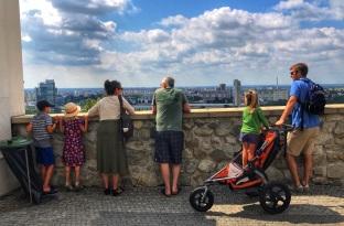 Overlooking Bratislava from Bratislava Castle