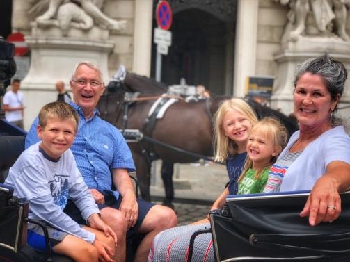 Horse-drawn carriage ride around Vienna!