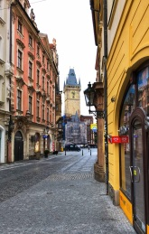 Streets of Prague - only empty in the early mornings!