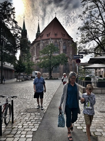 Nuremberg, with St. Lorenz in the background