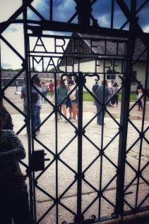 """Work Will Set You Free"" Entrance door to Dachau"
