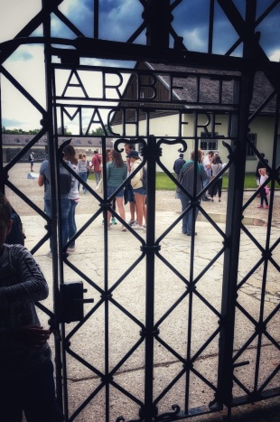 """Work Will Set You Free"" Entrance door to Dachau"