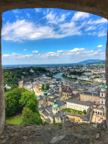 Overlooking Salzburg from the Castle
