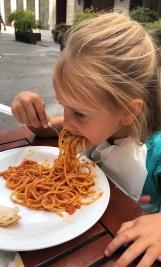 Mmmm spaghetti! Al Caminetto Restaurant, Vienna