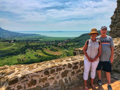 Atop the Szigliget Castle ruins overlooking Lake Balaton