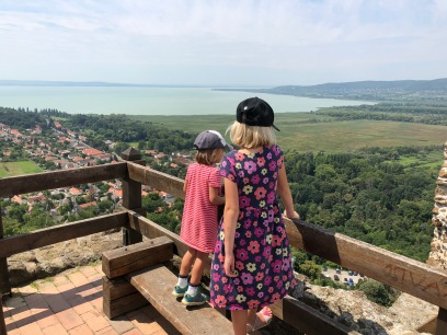 Lake Balaton in the distance