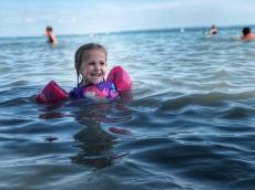 Swimming in Lake Balaton!
