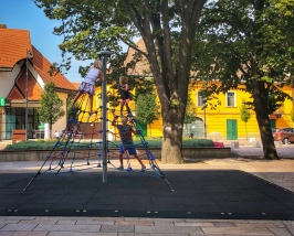 Playground in Papa square