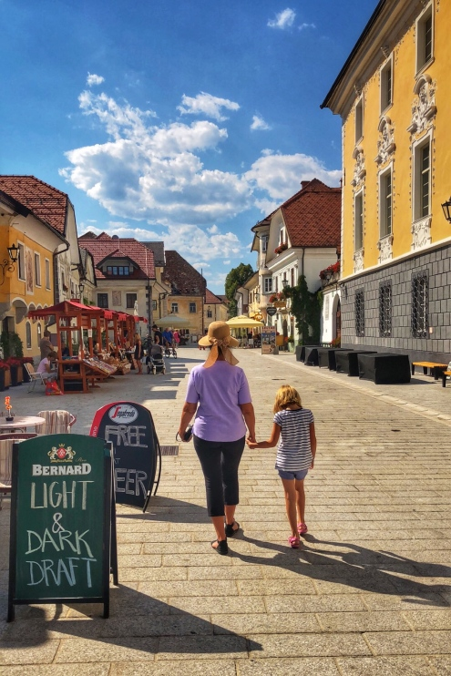 "The living ""museum"" streets of Radovljica!"