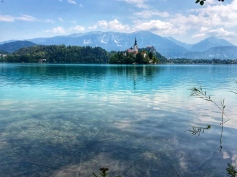 Crystal clear glacial waters of Lake Bled!