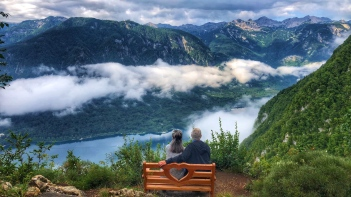 Vogar Viewpoint over Lake Bohinj, Slovenia