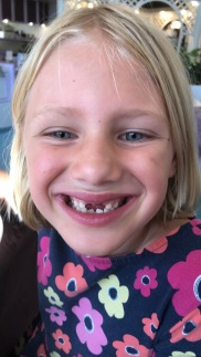 Didi lost ANOTHER tooth! Thanks for pulling it out, Nannie Annie!