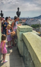 Overlooking Budapest from the top of St. Stephen's Cathedral