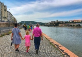 Walking along the Danube River