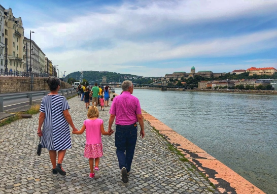 Walking along the Danube River