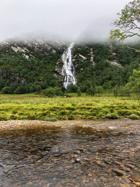 Steall Falls from the Water of Nevis
