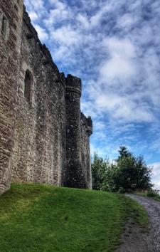 An outside wall of Doune Castle