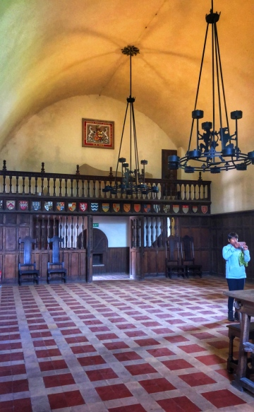 The Duke's hall in the gatehouse tower