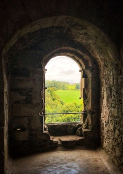"""The famous window from Monty Python where the prince was told """"All this land will be yours"""" and he replied, """"I don't want that, I just want to sing!"""""""