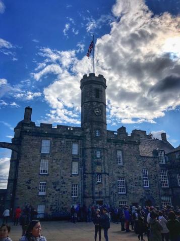 Edinburgh Castle from the courtyard