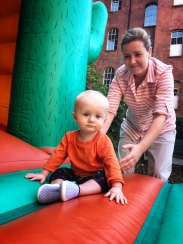 Even Gabe liked the bouncy castle!