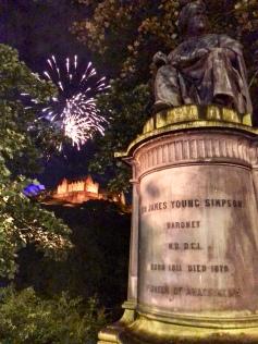 Fireworks began...