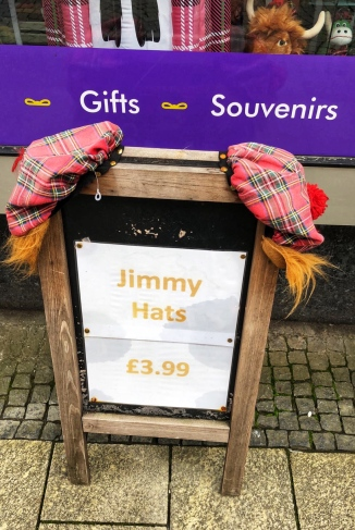 Jimmy Hats, SO much plaid, Highland Cows and Nessy stuffed animals everywhere!