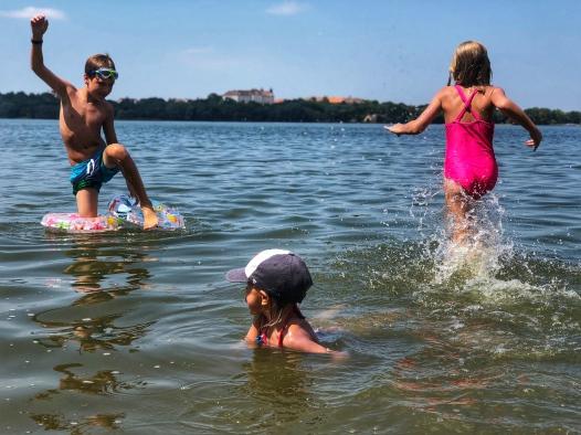 Fun in Lake Tata