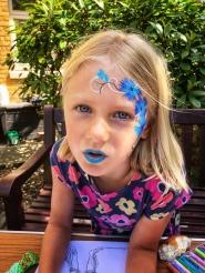 Pretty face paint! Didi got glitter later, too!