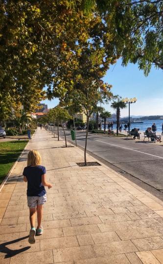 Walking back along the promenade...