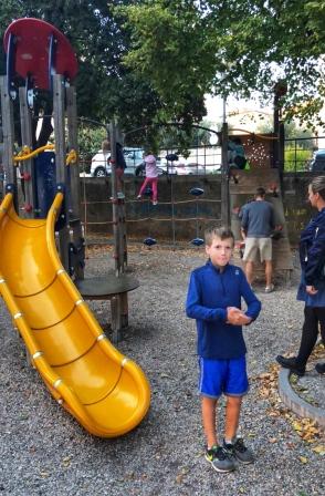 We found a cool playground!